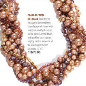 EUC Parklane Pearl-fection Necklace Taupe Choker